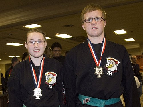 Kirsty McCarthy and Daniel Murphy With IKC 2009 Team Form Medals