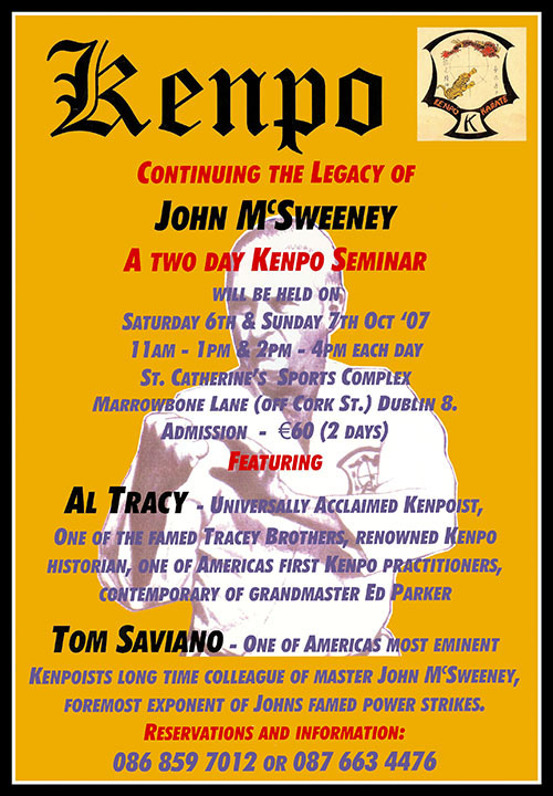Kenpo - Continuing The Legacy Of John McSweeney Seminar Poster (Click For Larger Version)