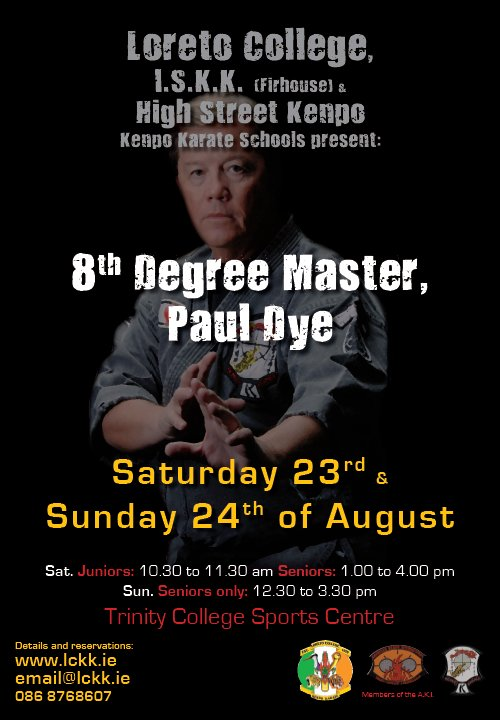 Paul Dye Seminar Poster (Click For Larger Version)